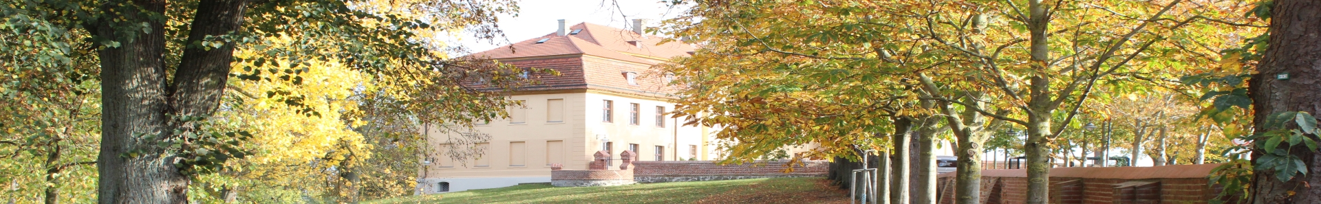 Banner Schlossgarten im Herbst
